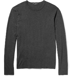 Dolce & Gabbana - Long-Sleeved Cotton-Jersey T-Shirt