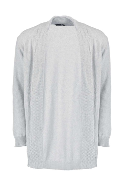 Boohoo - Longline Textured Cardigan