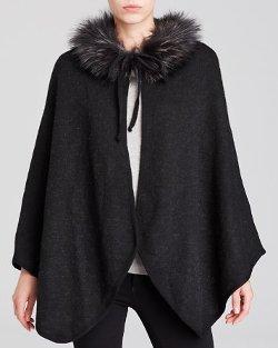 Corti  - Fur Collar Reversible Cape