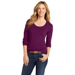 Eddie Bauer  - Long-Sleeve Scoop-Neck T-Shirt