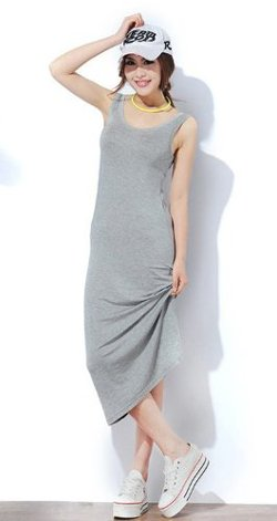 Tonwhar - Soft Modal Cotton Tank Dress