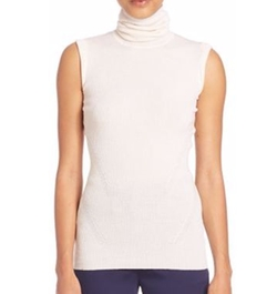 Diane von Furstenberg - Sutton Sleeveless Ribbed Turtleneck