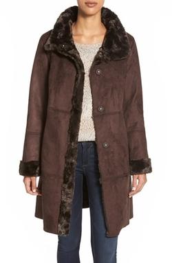Ellen Tracy - Faux Shearling Coat