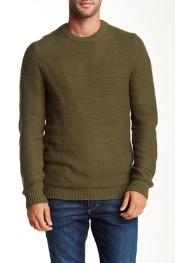 Urban Camo  - Textured Crew Neck Sweater