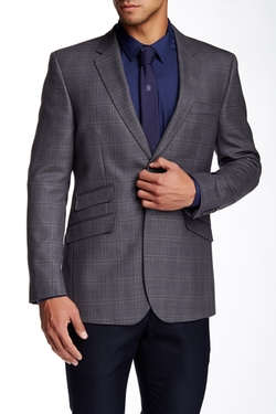 English Laundry  - Plaid Two Button Notch Lapel Wool Jacket