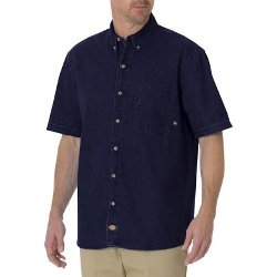 Dickies - Short Sleeve Denim Button Down Shirt