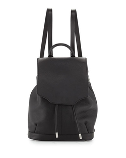 Rag & Bone - Pilot Leather Flap-Top Backpack, Black