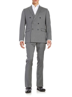 Calvin Klein  - Double Breasted Wool Suit