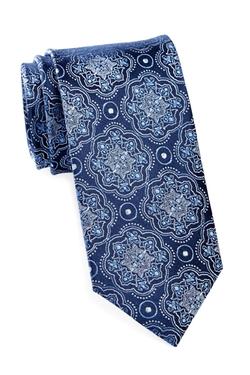 Bristol & Bull - Floral Medallion Solid Silk Tie