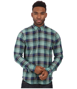 Scotch & Soda  - Brushed Flannel Check Long Sleeve Shirt