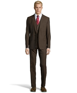 Dolce & Gabbana  - Mud Wool Martini 3-Piece Suit