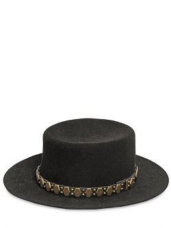 Saint Laurent  - Studded Felted Lapin Hat