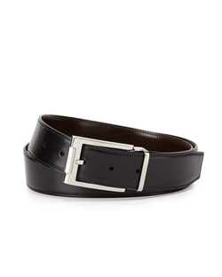 Salvatore Ferragamo - Reversible Leather Buckle Dress Belt