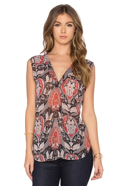 Bishop + Young - Sleeveless Printed Blouse