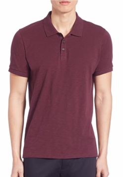 Vince  - Slub Cotton Classic Polo T-Shirt