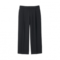 Uniqlo - Drape Wide Leg Cropped Pants