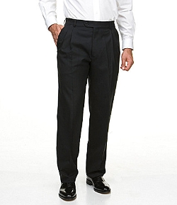 Hart Schaffner - Marx Tailored Double-Pleated Wool Dress Pants