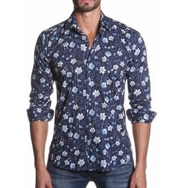 Jared Lang - Trim Fit Floral Print Sport Shirt