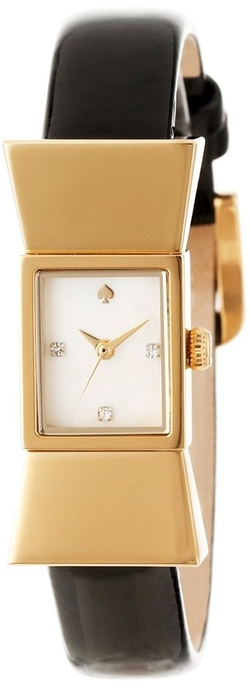 Kate Spade New York - Carlyle Watch With Black Leather Band