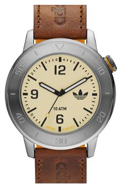 Adidas Originals  - Manchester Leather & Silicone Strap Watch