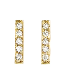 Jennifer Meyer - Diamond Bar Stud Earrings