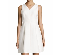 Halston Heritage  - Sleeveless Fit-and-Flare Dress