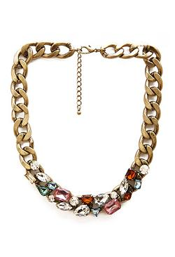 Forever 21 - Faux Gem Collar Necklace