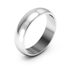 I Wedding Band - Light Half Round Wedding Band