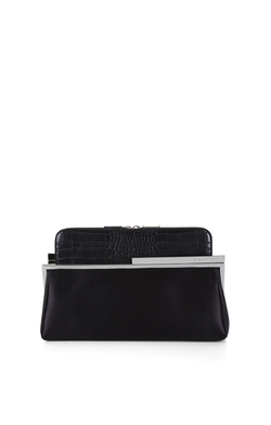 BCBGMAXAZRIA - Darlene Croco-Embossed Clutch Bag