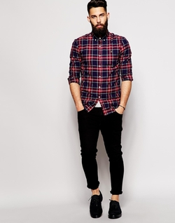 Farah - Plaid Check Slim Fit Shirt