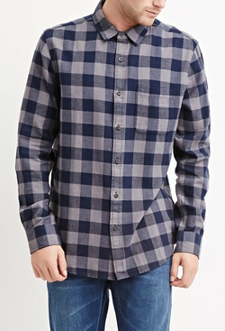 21 Men - Buffalo Plaid Cotton Shirt