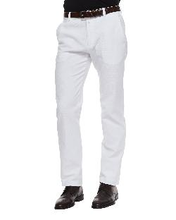Giorgio Armani - Waffle-Knit Trousers, White