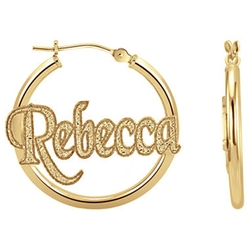 Jc Penney - Personalized Name Hoop Earrings