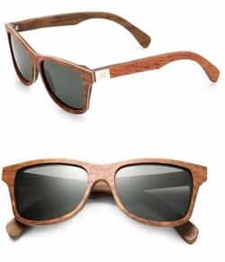 Shwood  - Canby Redwood & Walnut Wayfarer Sunglasses