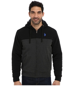 U.S. Polo Assn. - Sherpa Lined Color Block Full Zip Hoodie