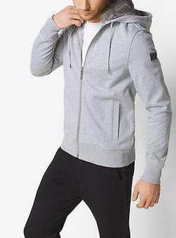 Michael Kors Mens   - Fur-lined Zip-up Hoodie