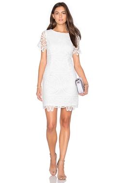 J.O.A. - Short Sleeve Lace Dress