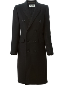Saint Laurent   - Double Breasted Overcoat