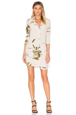 Halston Heritage - Long Sleeve Shirt Dress