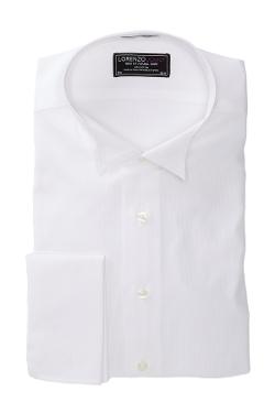 Lorenzo Uomo - Trim Fit Solid Long Sleeve Tuxedo Shirt