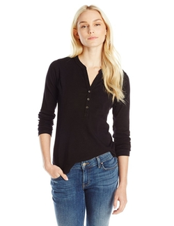 Three Dots - Ashley Long Sleeve Henley Top