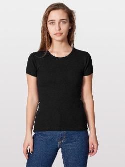 American Apparel - Baby Rib Basic Short Sleeve T-Shirt