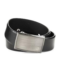 BUGATTI  - Textured Leather Belt
