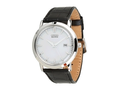 Citizen - Croc Embossed Leather Strap Watch