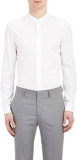 Maison Margiela  - Mandarin Collar End-on-end Shirt