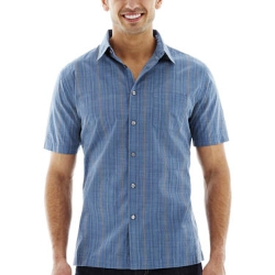 Van Heusen - Short-Sleeve Faux Linen Shirt