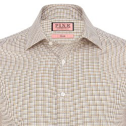 Thomas Pink - Sydney Check Classic Fit Button Cuff Shirt