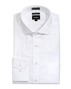 Neiman Marcus  - Non-Iron Trim-Fit Tonal Checked Dress Shirt