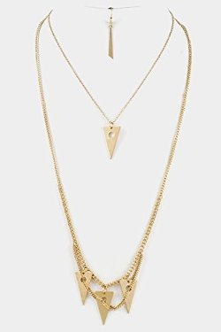 Fashion Destination  - Triangle Pendant Charm Necklace