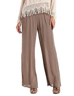 Charlotte Russe - Wide-Leg Gauzy Pants